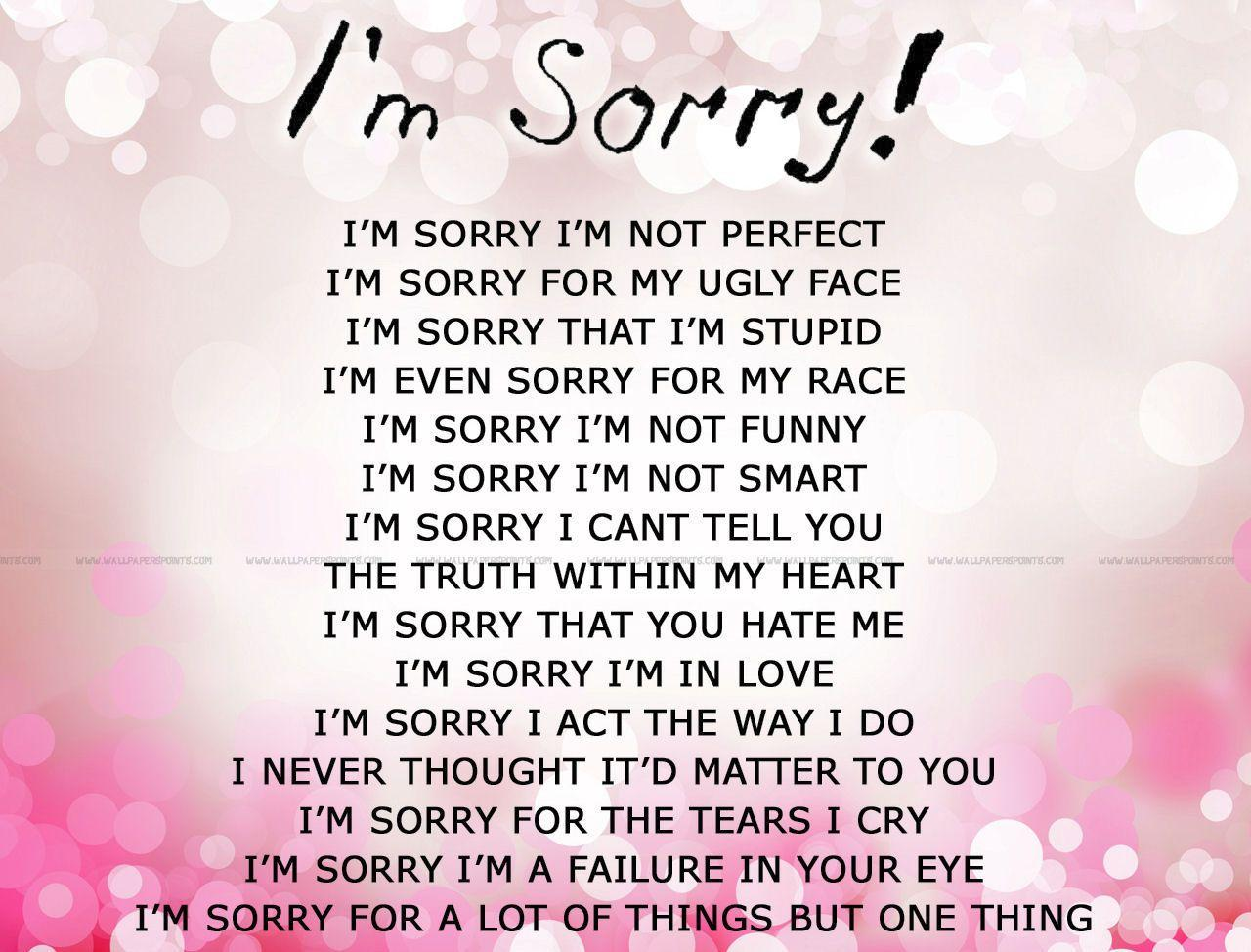 Love Apologies Quotes For Her Sorry Love Pic - Wallpaper Hd ..
