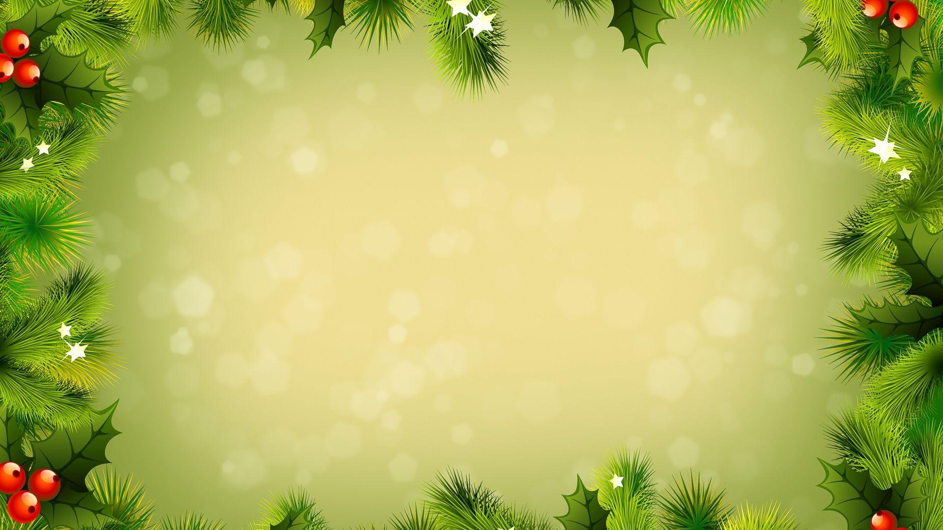 Download Wallpapers 1920x1080 background, new year, branches Full HD