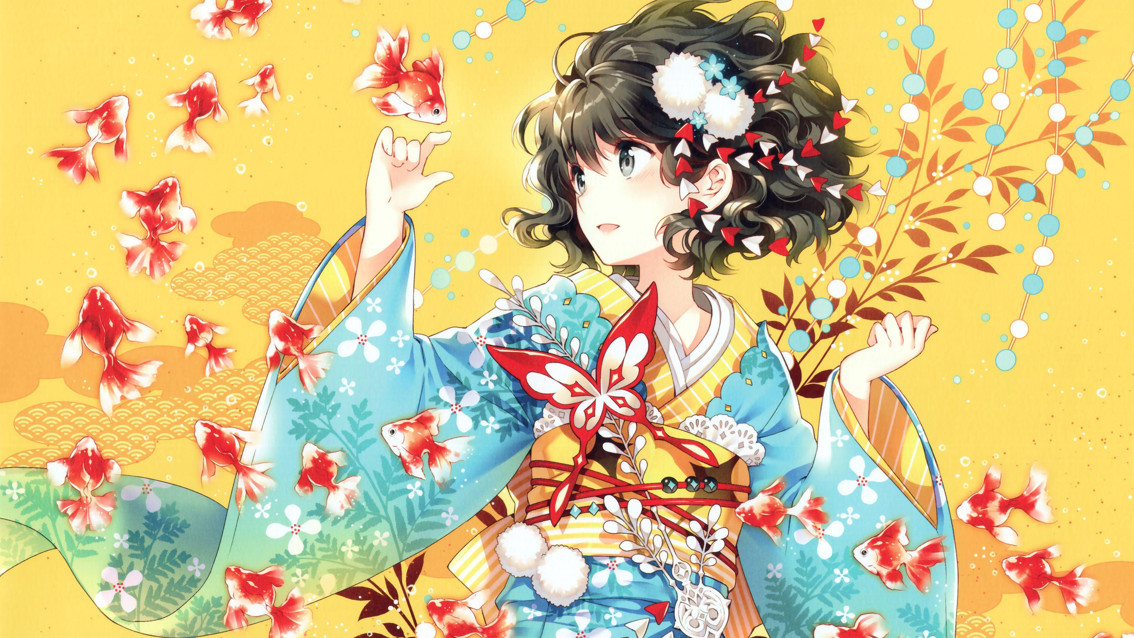 Kimono Anime Girl K Wallpapers Hd Wallpapers Id