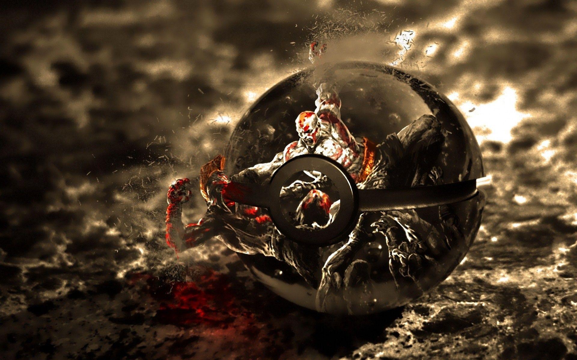 Download The Kratos Poke Ball Wallpaper IPhone