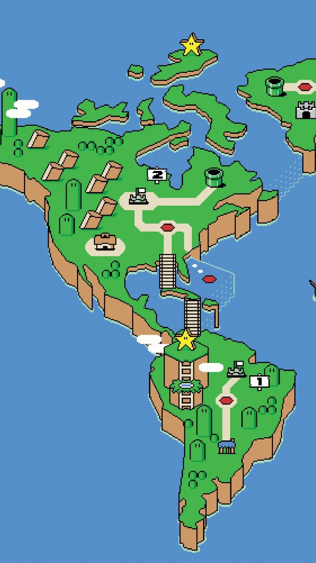 Super Mario World Map Wallpapers Wallpaper Cave