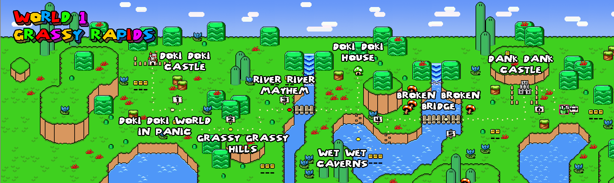 Super Mario World Map Wallpapers - Wallpaper Cave