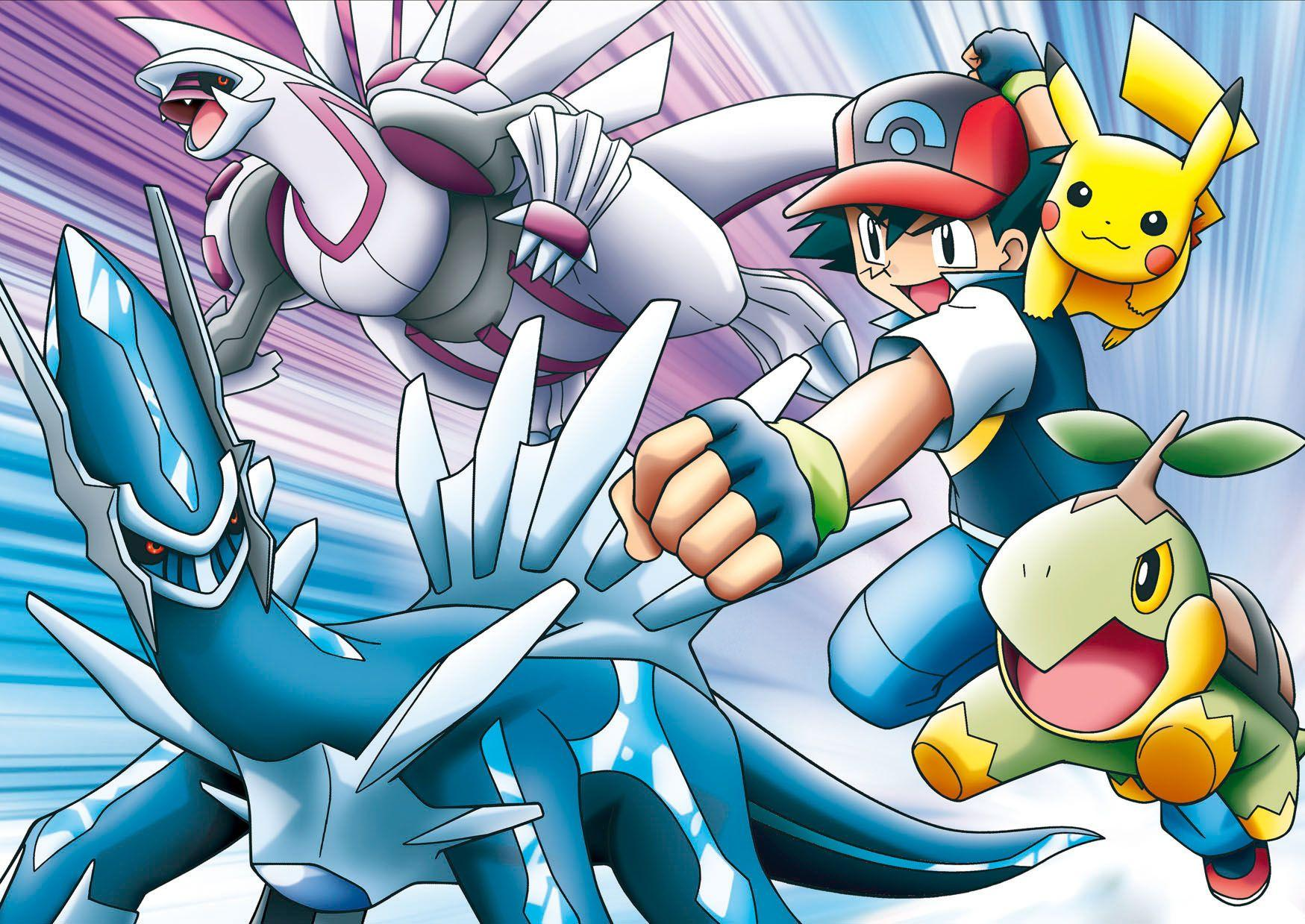 Dialga, Palkia, Ash! All my favorites in 1 movie!