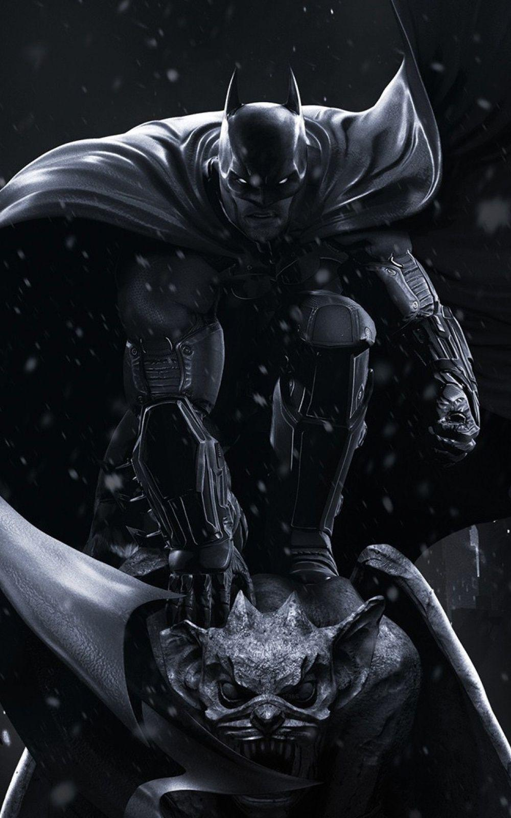 Batman Black Winter Android Wallpapers free download