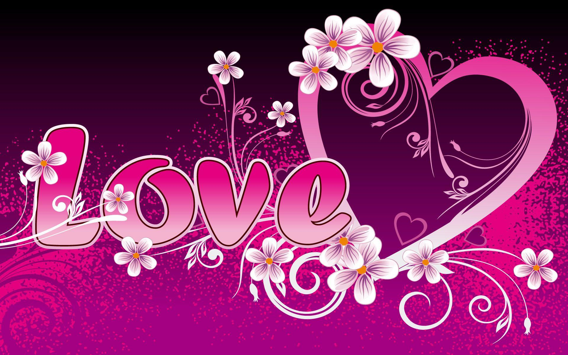 Pink Love Cute Wallpapers Wallpapers