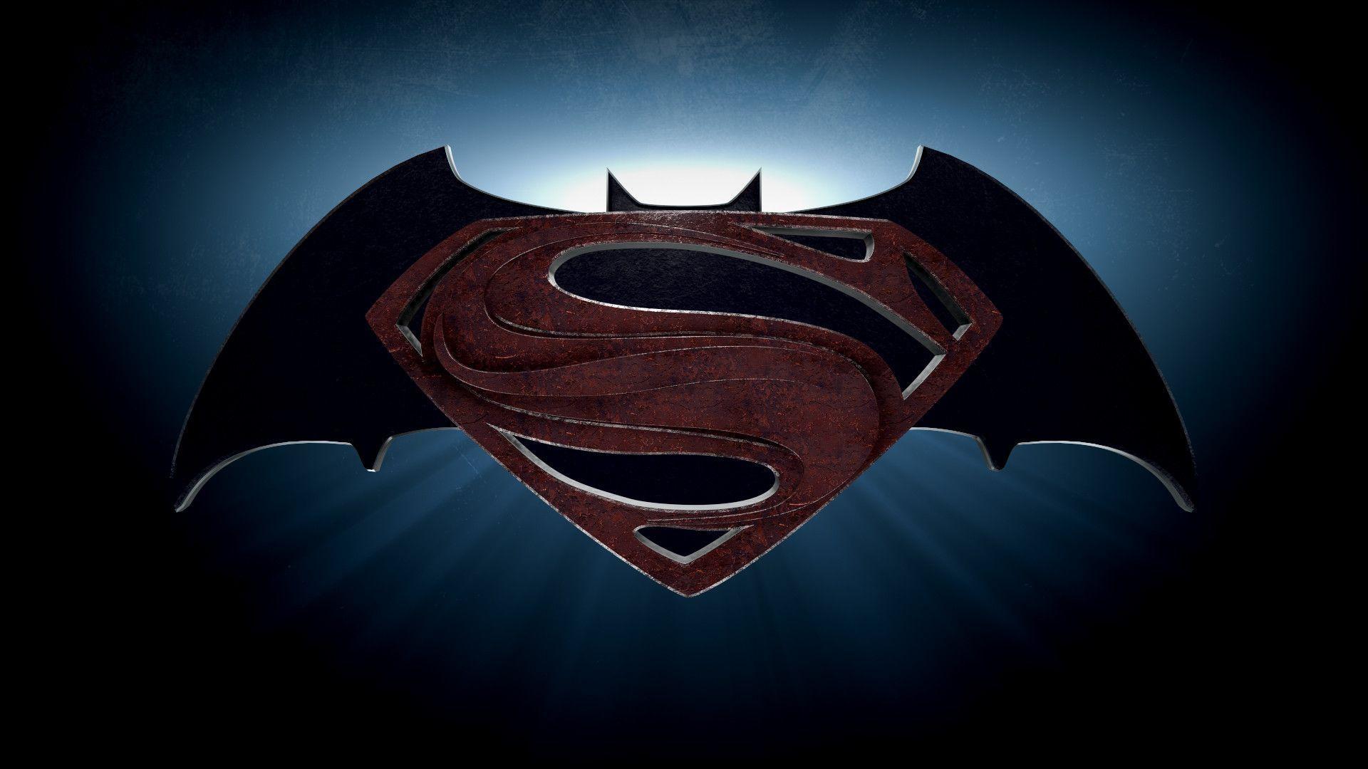superman batman logo wallpapers wallpaper cave