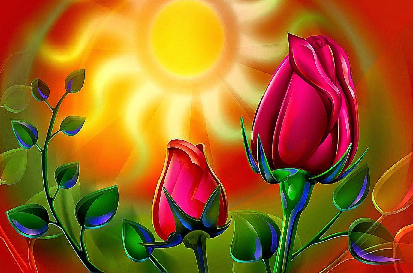 Wallpaper Hd 3D Flower Rose   Wallpaper Background Gallery