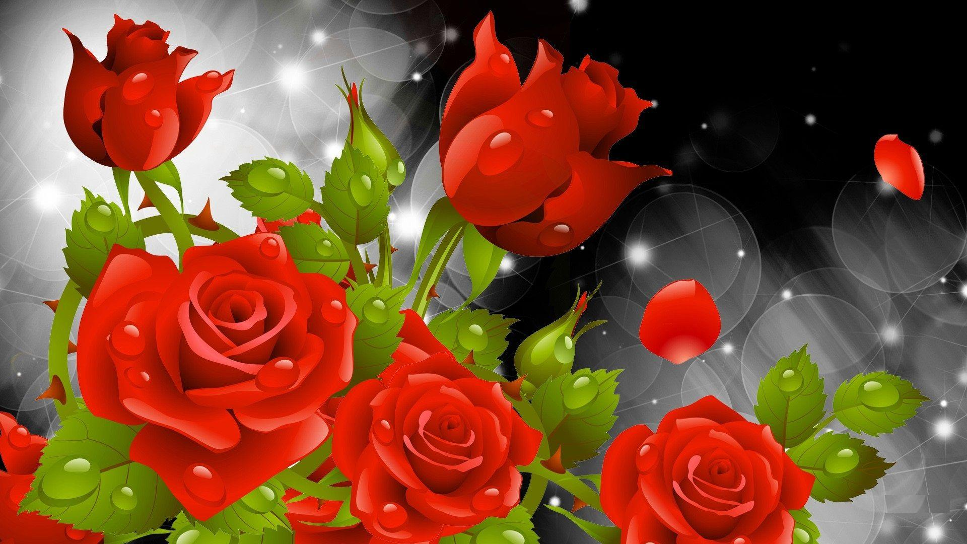 3d Flower Wallpapers Rose Wallpaper Cave