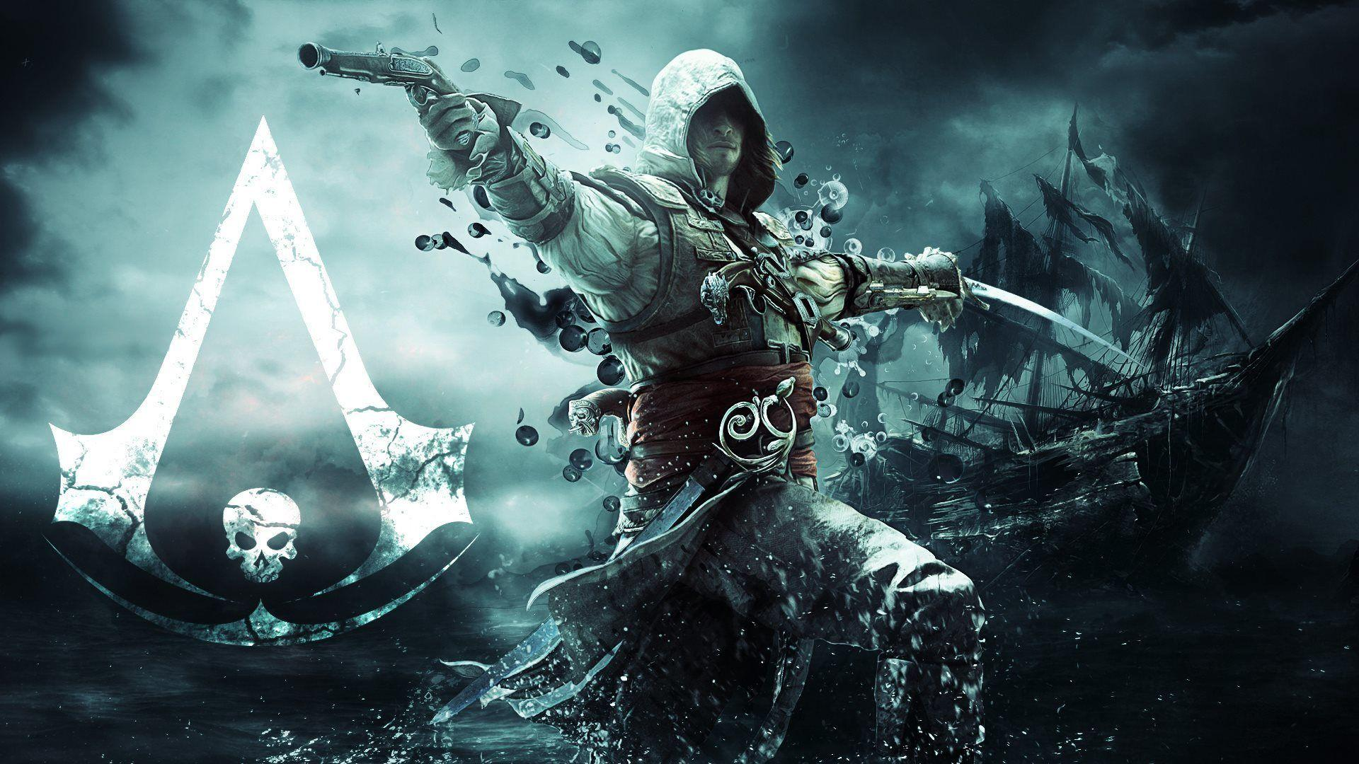 Full HD Wallpaper Assassins Creed Edward Kenway Logo Ship Desktop