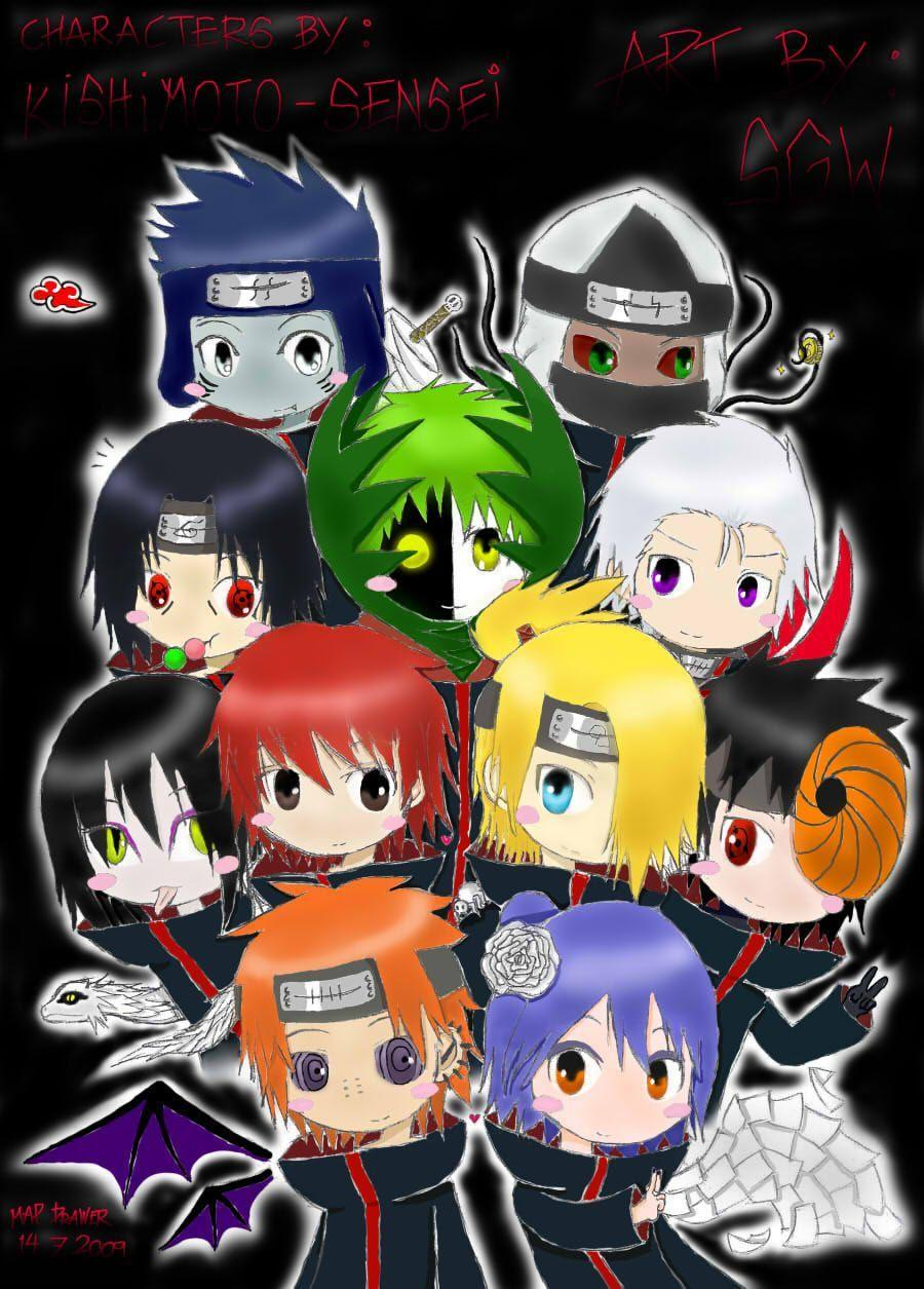 Akatsuki Chibi Wallpapers Wallpaper Cave