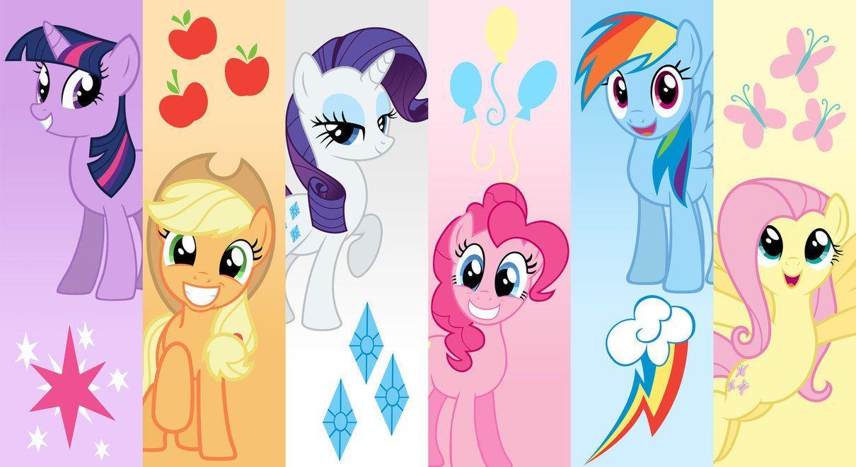 my little pony mane 6 wallpaper by AlexDTI on DeviantArt