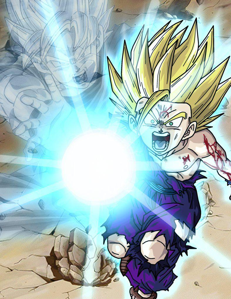 Super Saiyan 2 Gohan Kamehameha Wallpapers Wallpaper Cave