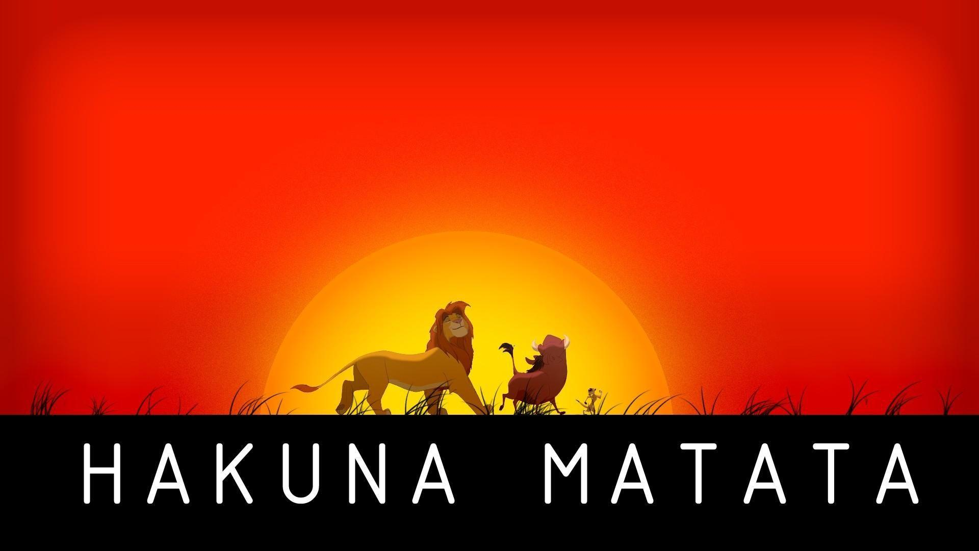 Hakuna matata the lion king no worries wallpapers