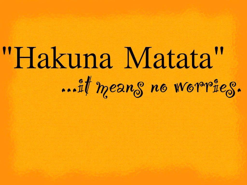 Hakuna Matata Wallpapers Wallpaper Cave