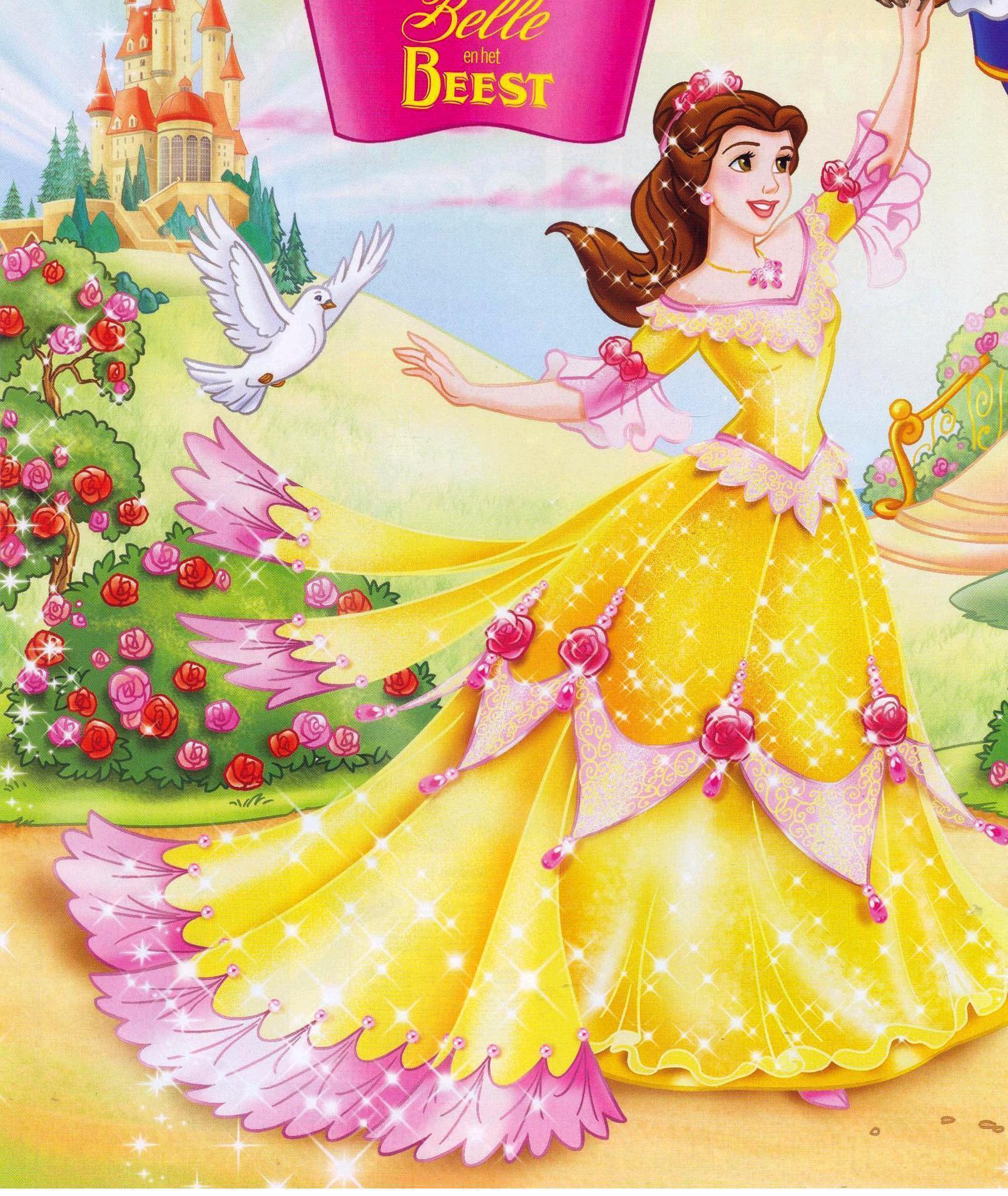 Открытки принцессами, животные