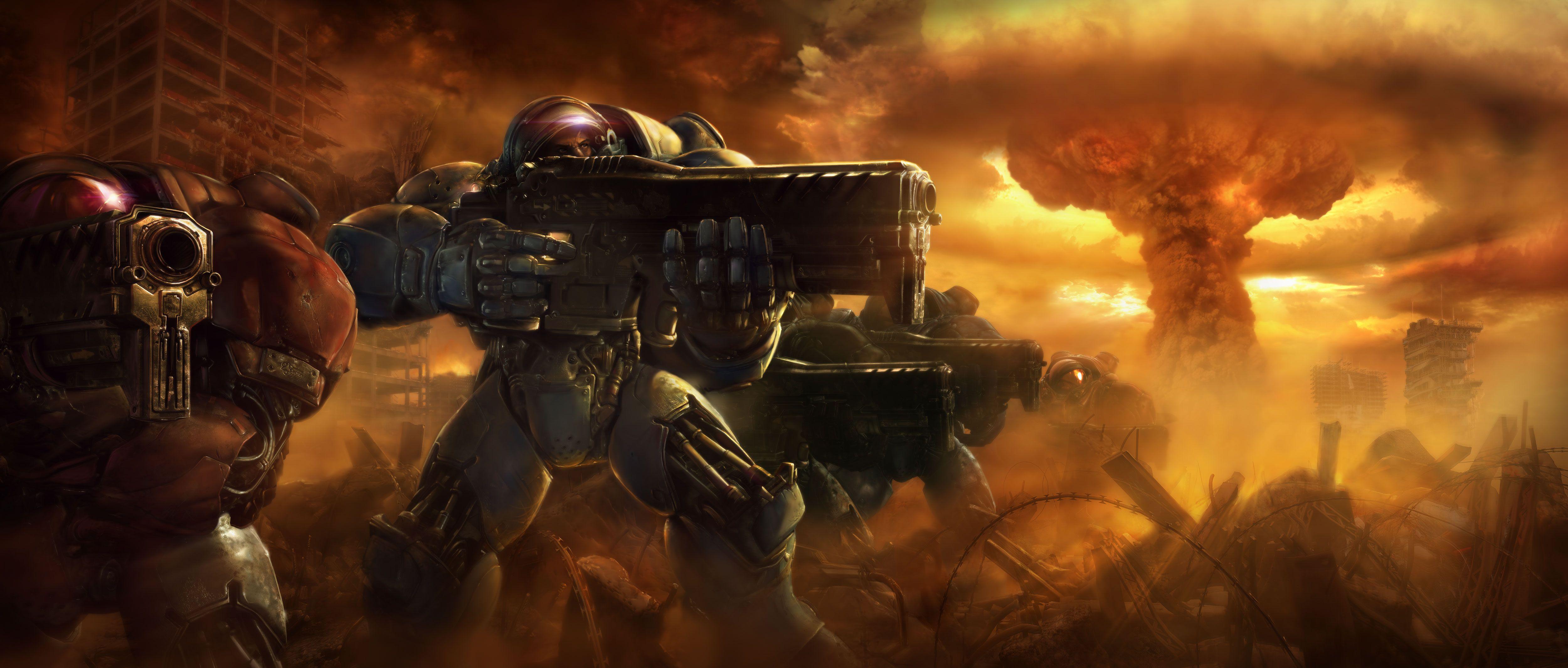video, Games, Terran, Us, Marines, Corps, Artwork, Tyrchus