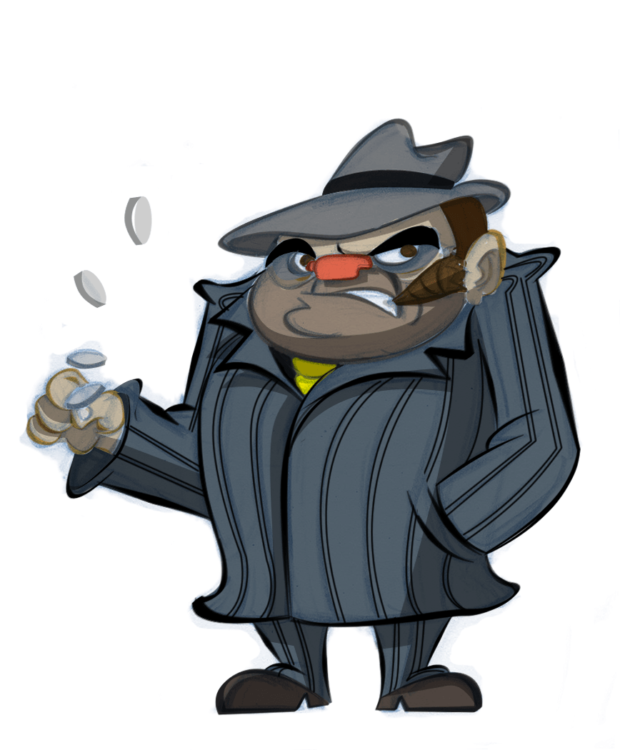 Gangster Sketches: Cool Cartoon Gangster Wallpapers