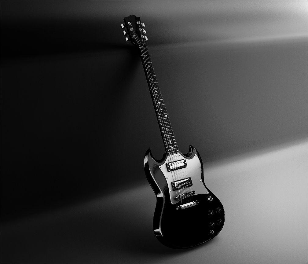 Black Guitars Wallpapers
