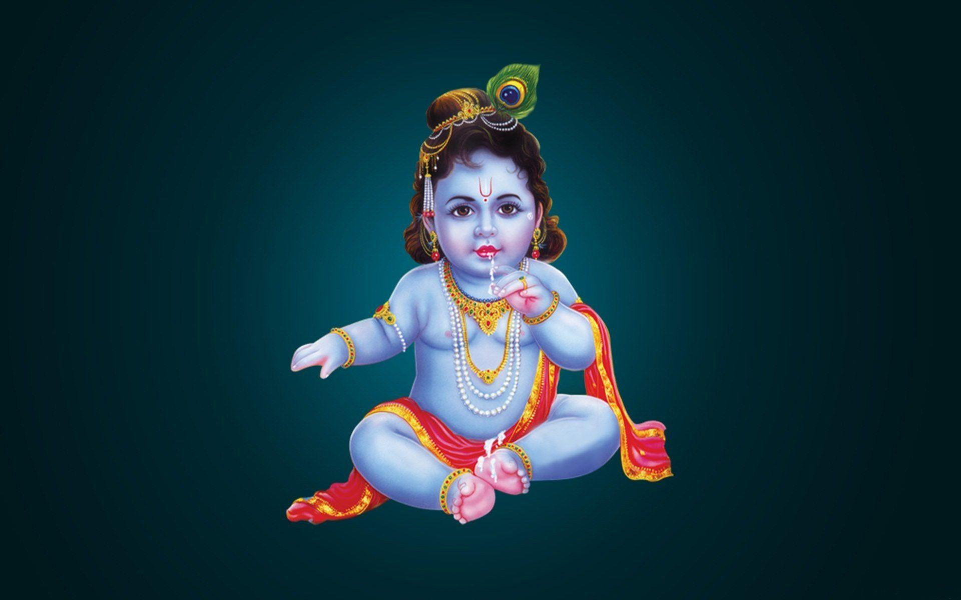 Bal Krishna With Cow Wallpaper Labzada Wallpaper