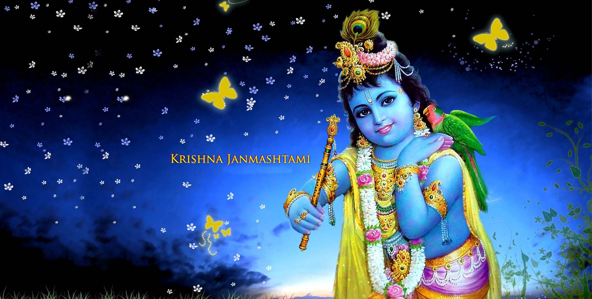 Sri Krishna Janmashtami 2017 Image with Quotes, Whatsapp DP's