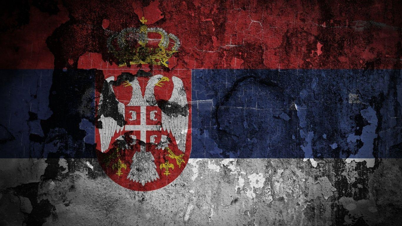 1366x768 Flag, Serbia, Emblem Wallpapers and Pictures, Photos