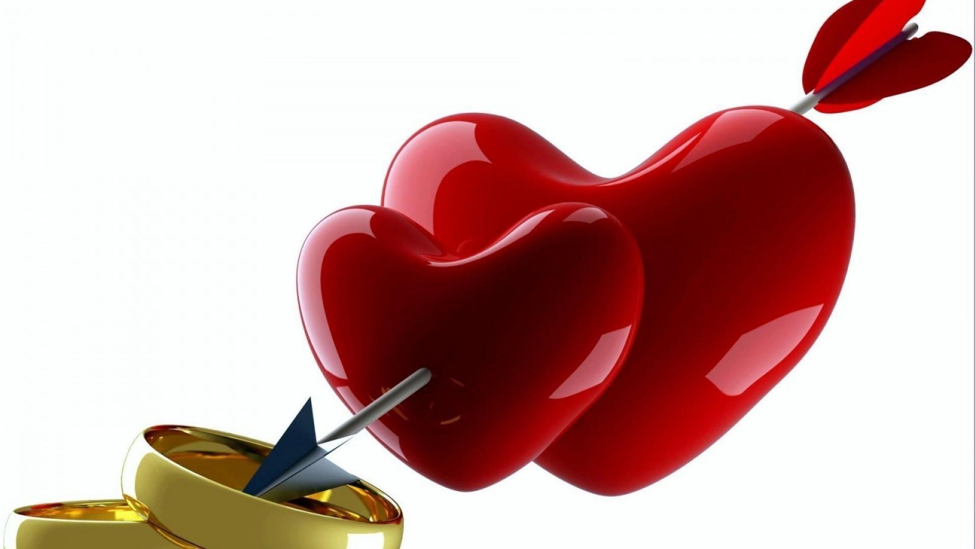 Анимация свадебные сердечки