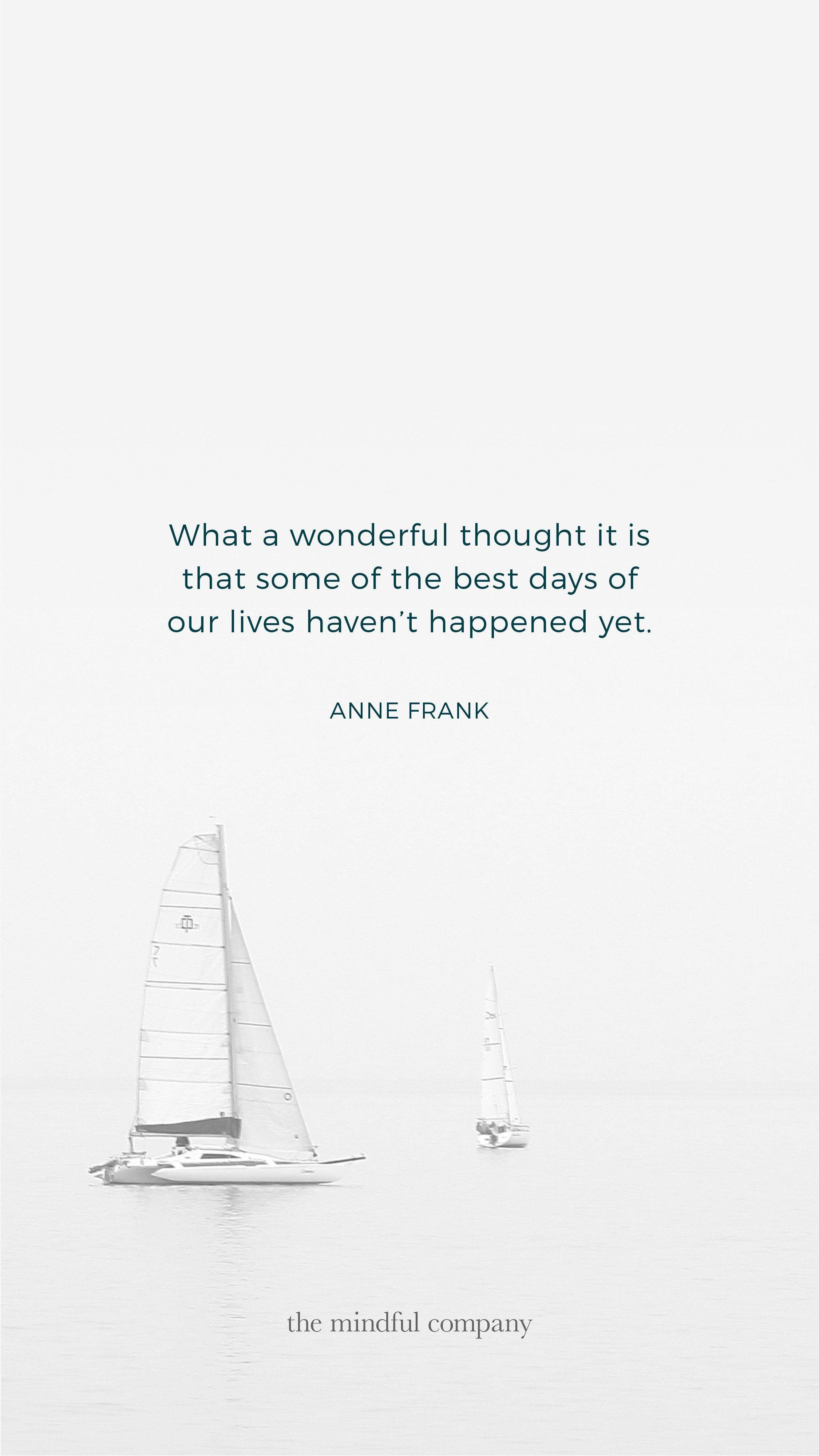 Wallpapers of the Month: Anne Frank – The Mindful Company