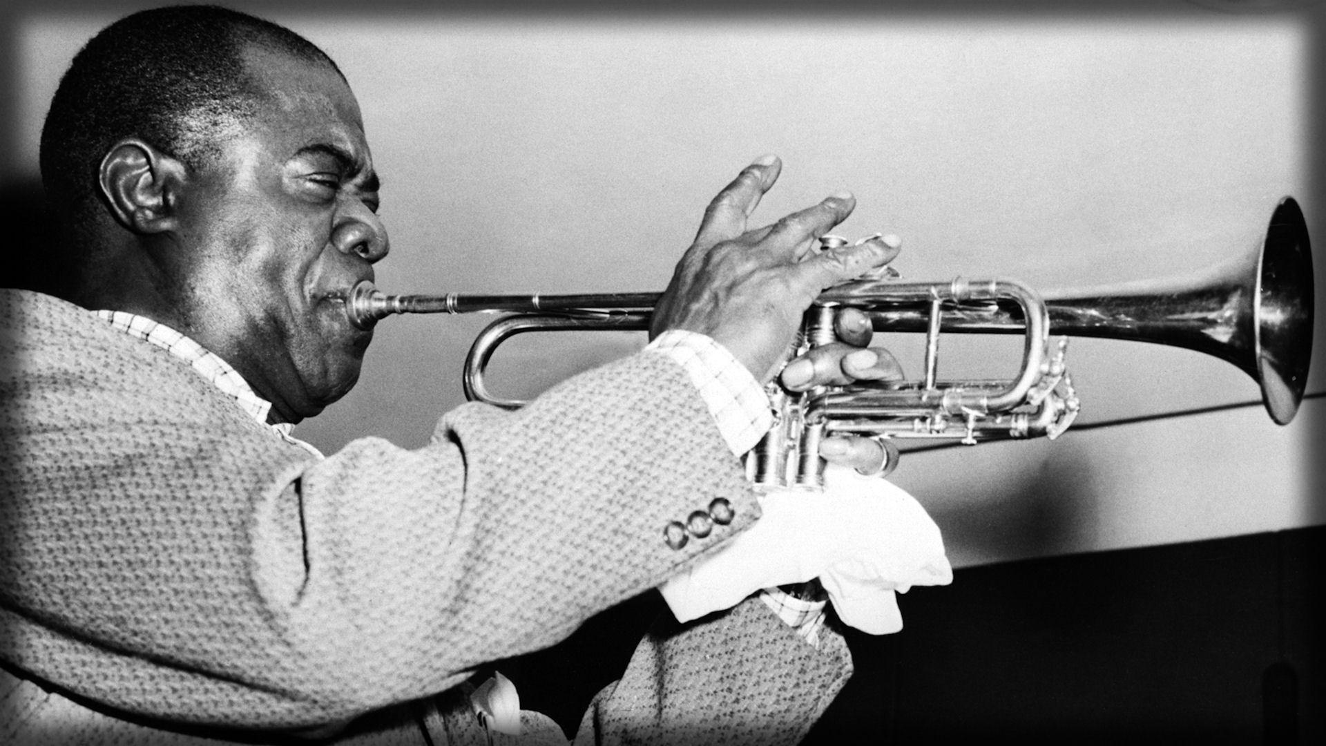Download Wallpaper 1920x1080 louis armstrong, pipe, jacket, face ...