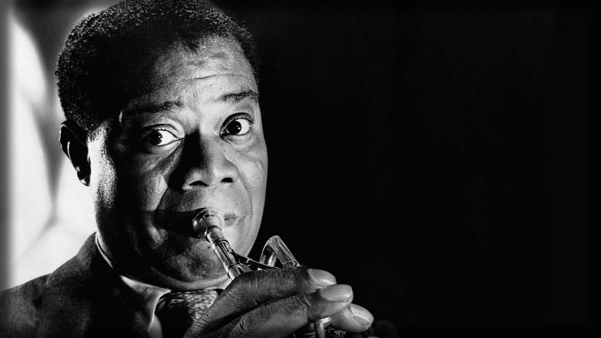 Download Wallpaper 1920x1080 louis armstrong, look, pipe, face ...