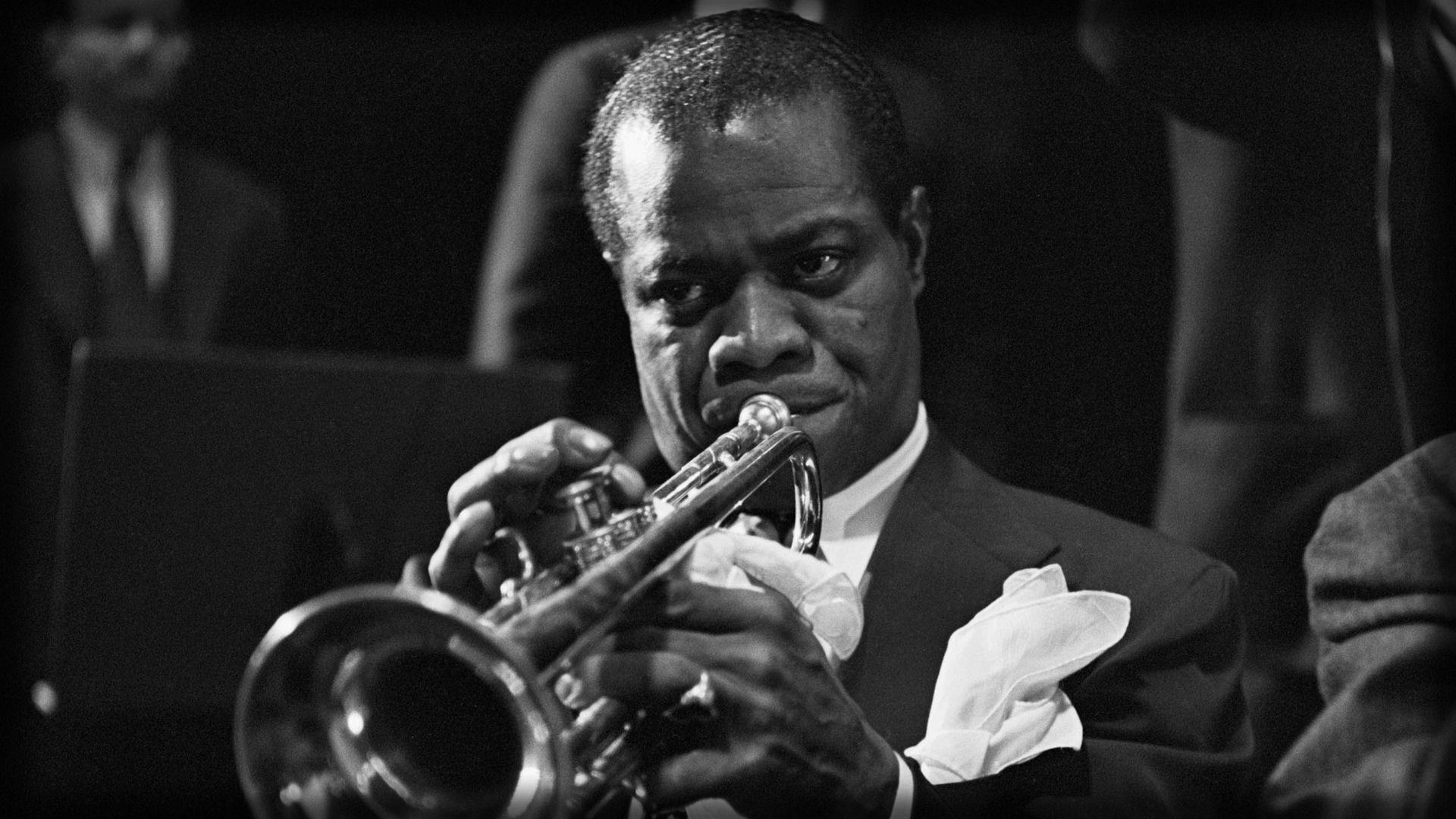 Download wallpaper 1920x1080 louis armstrong, pipe, jacket, ring ...