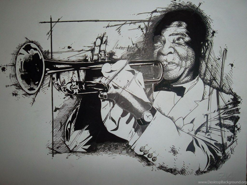 Louis Armstrong By N4ndrom4n On DeviantArt Desktop Background