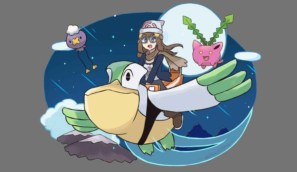 Pokemon Diamond Pearl Remake - Shiny Pelipper Ride by chocomiru02 on ...