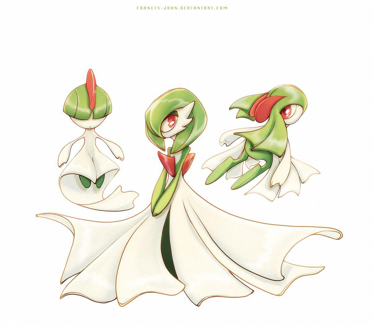 Ralts Gardevoir and Kirlia by francis-john on DeviantArt