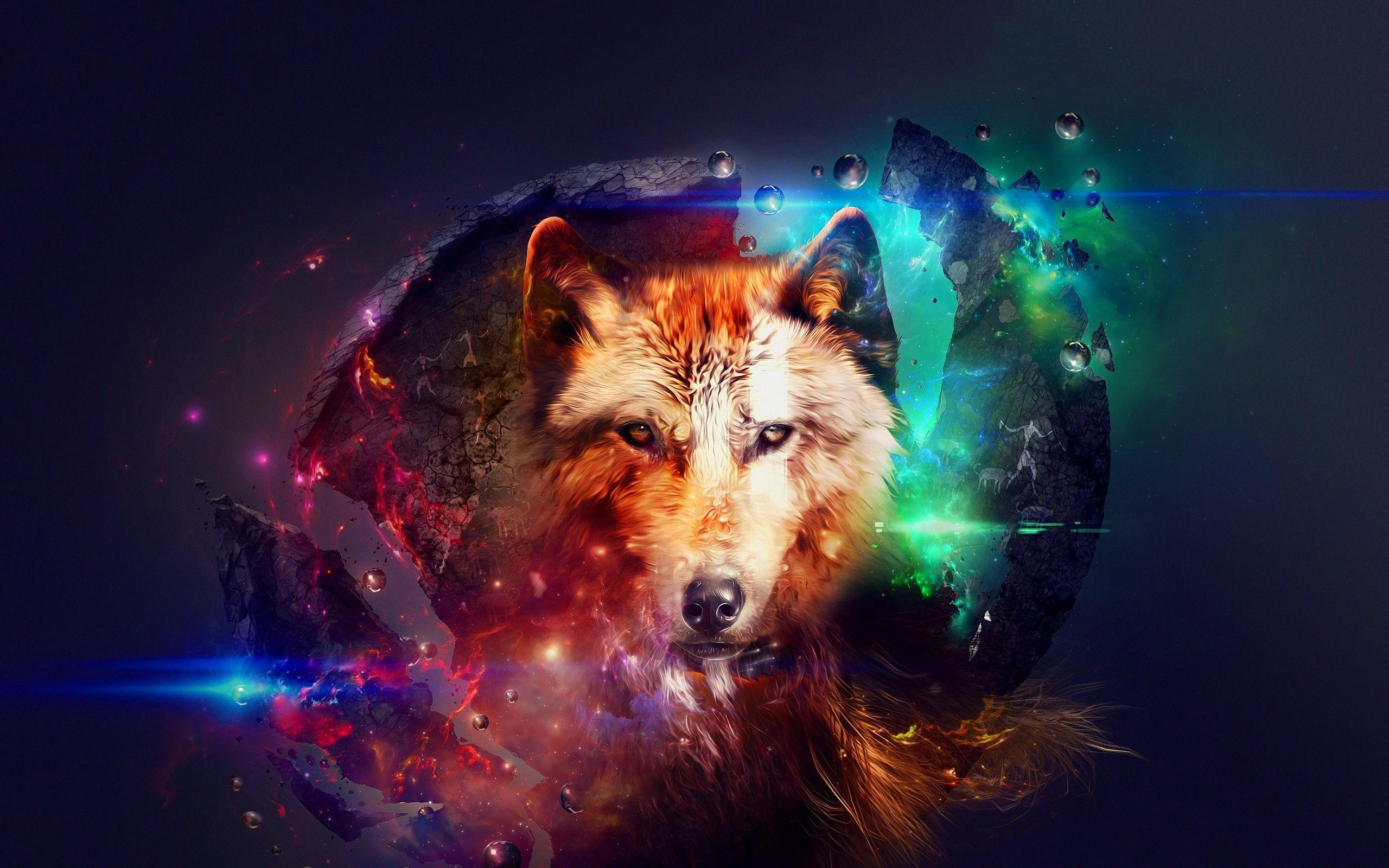 Galaxy Wolf Wallpapers Wallpaper Cave Jpg 2560x1600 Colorful Tumblr