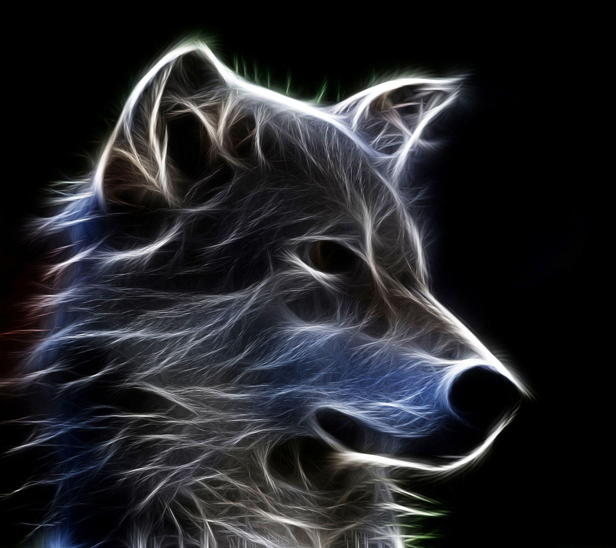 Galaxy Wolf Wallpapers Wallpaper Cave