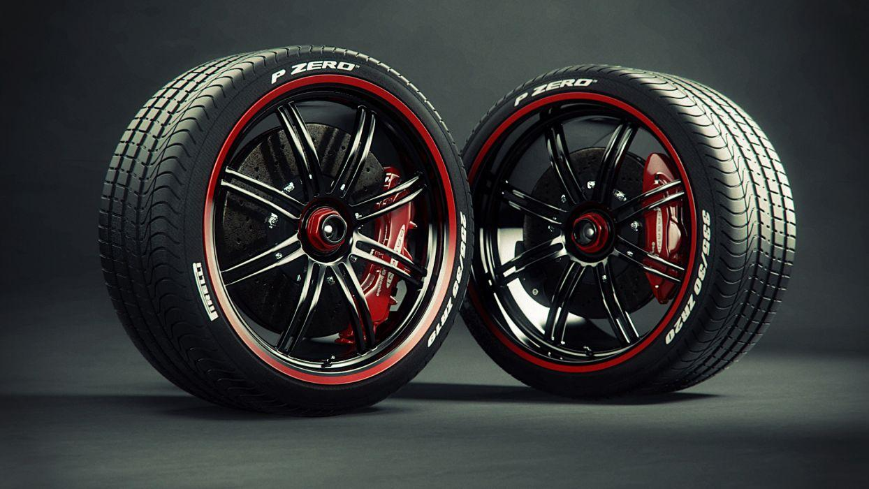 Pirelli tires wheels caliper brake disc wheel wallpapers