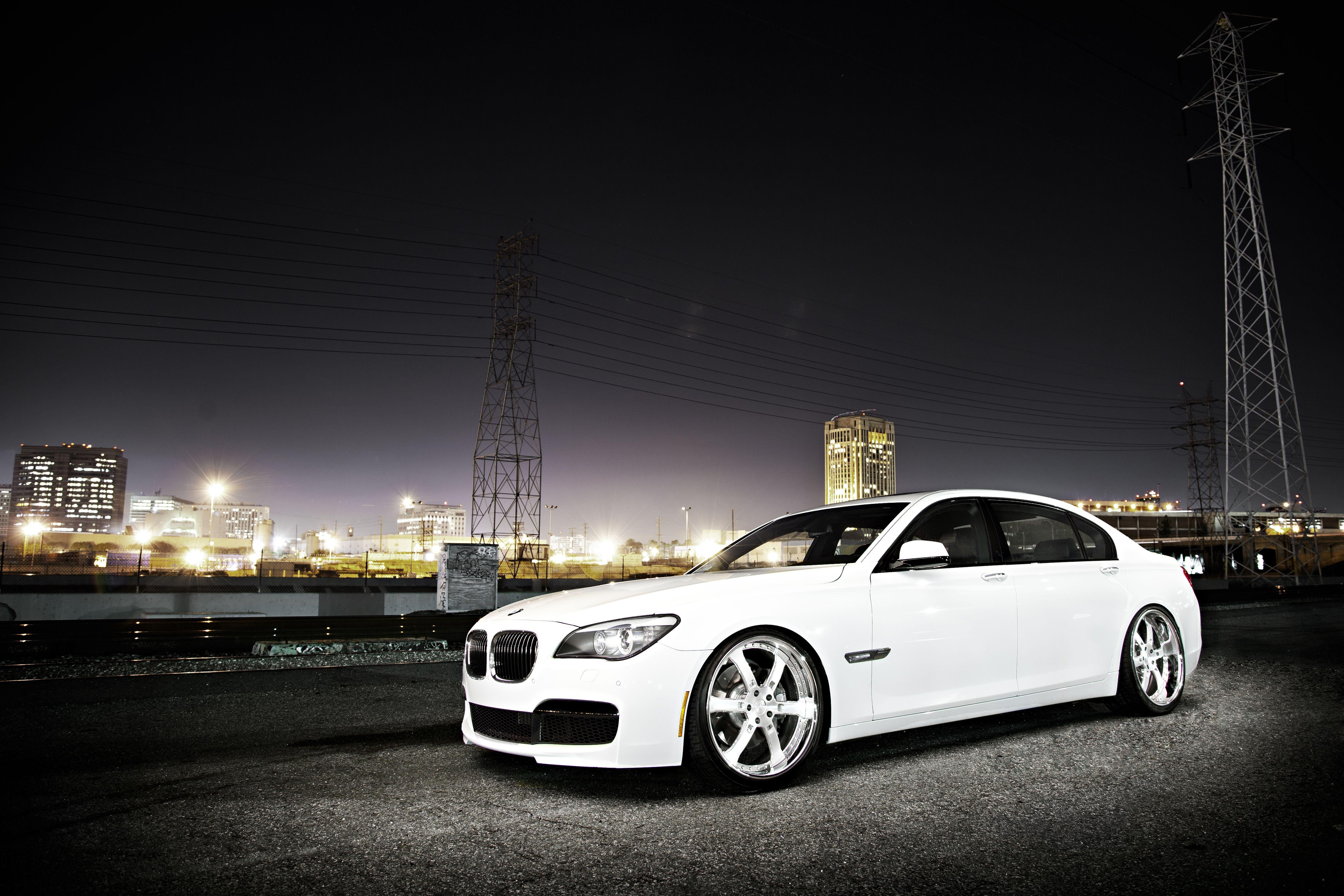 White BMW 7 series wallpapers and image