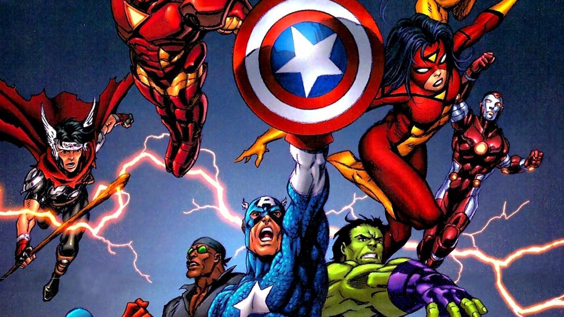 Avengers cartoon wallpapers wallpaper cave - Wallpaper avengers 3d ...