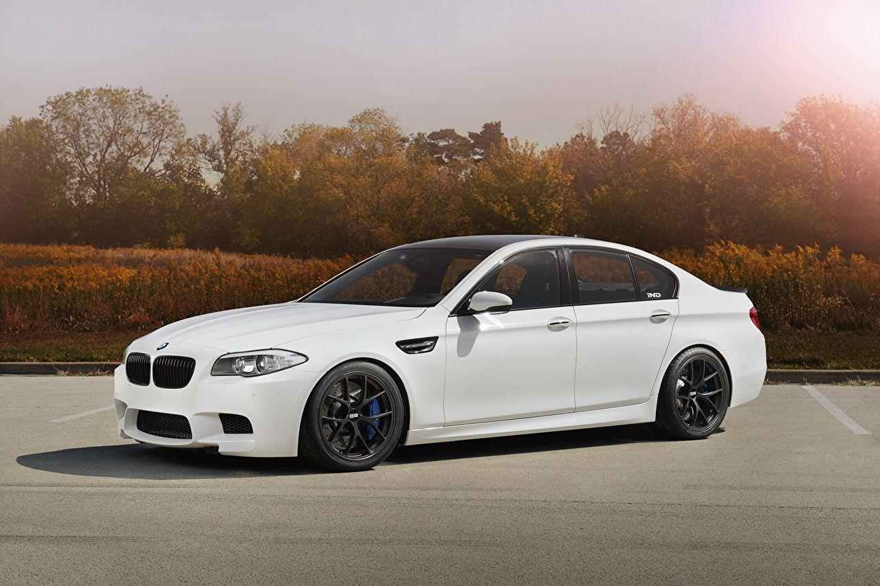 Wallpapers BMW F10 White automobile