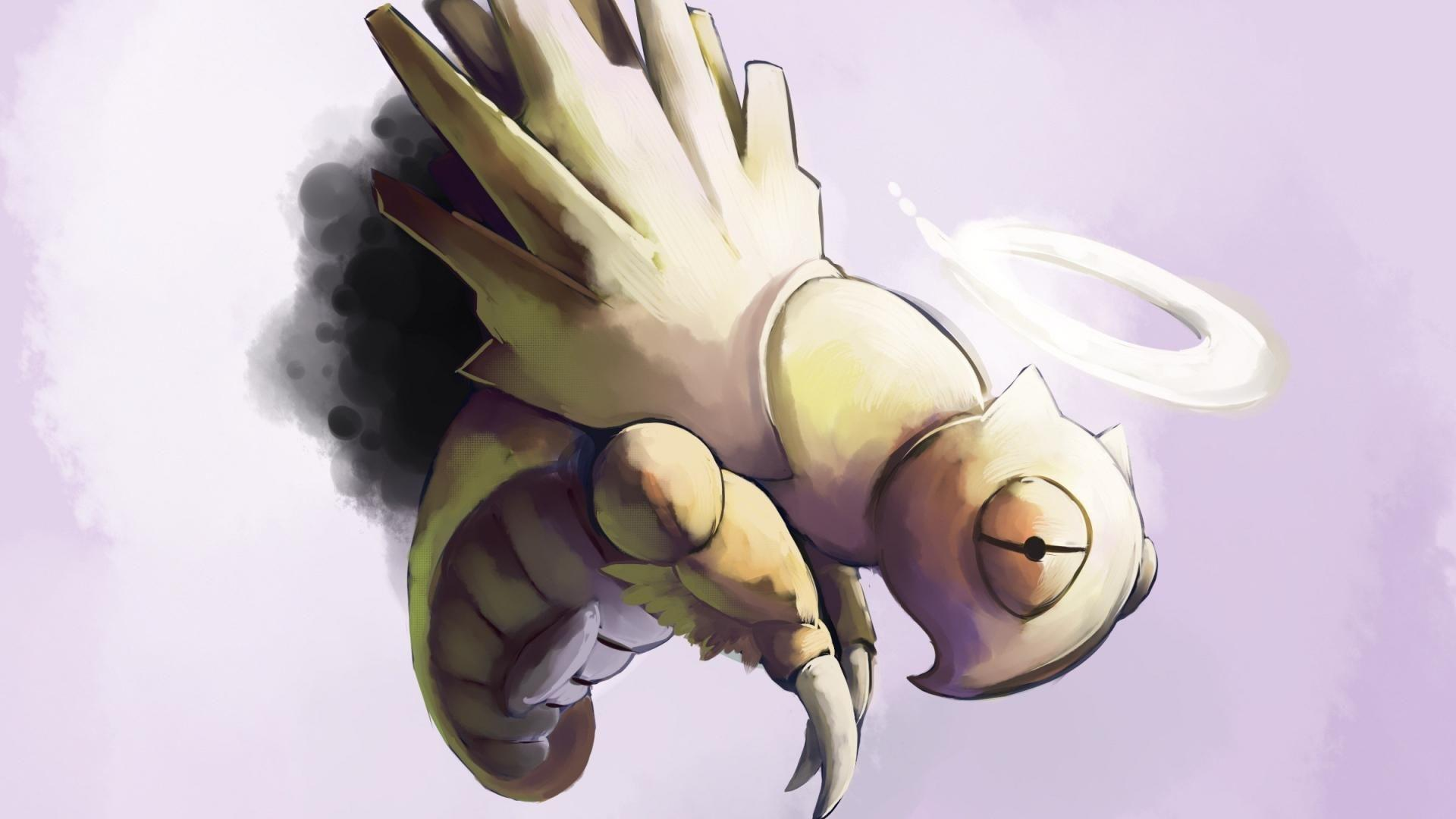 Creepy pokemon insects dead simple background grey shedinja ...