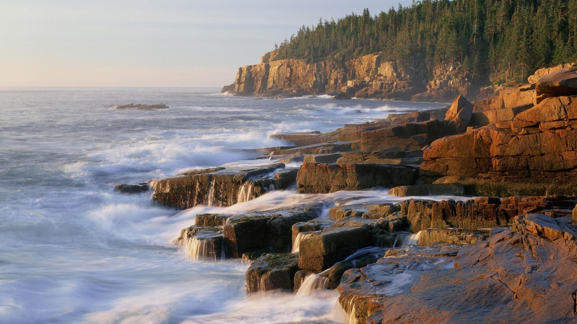 Otter cliff acadia np maine wallpapers