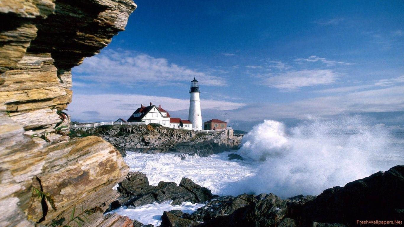 Portland Head Lighthouse, Maine wallpapers | Freshwallpapers