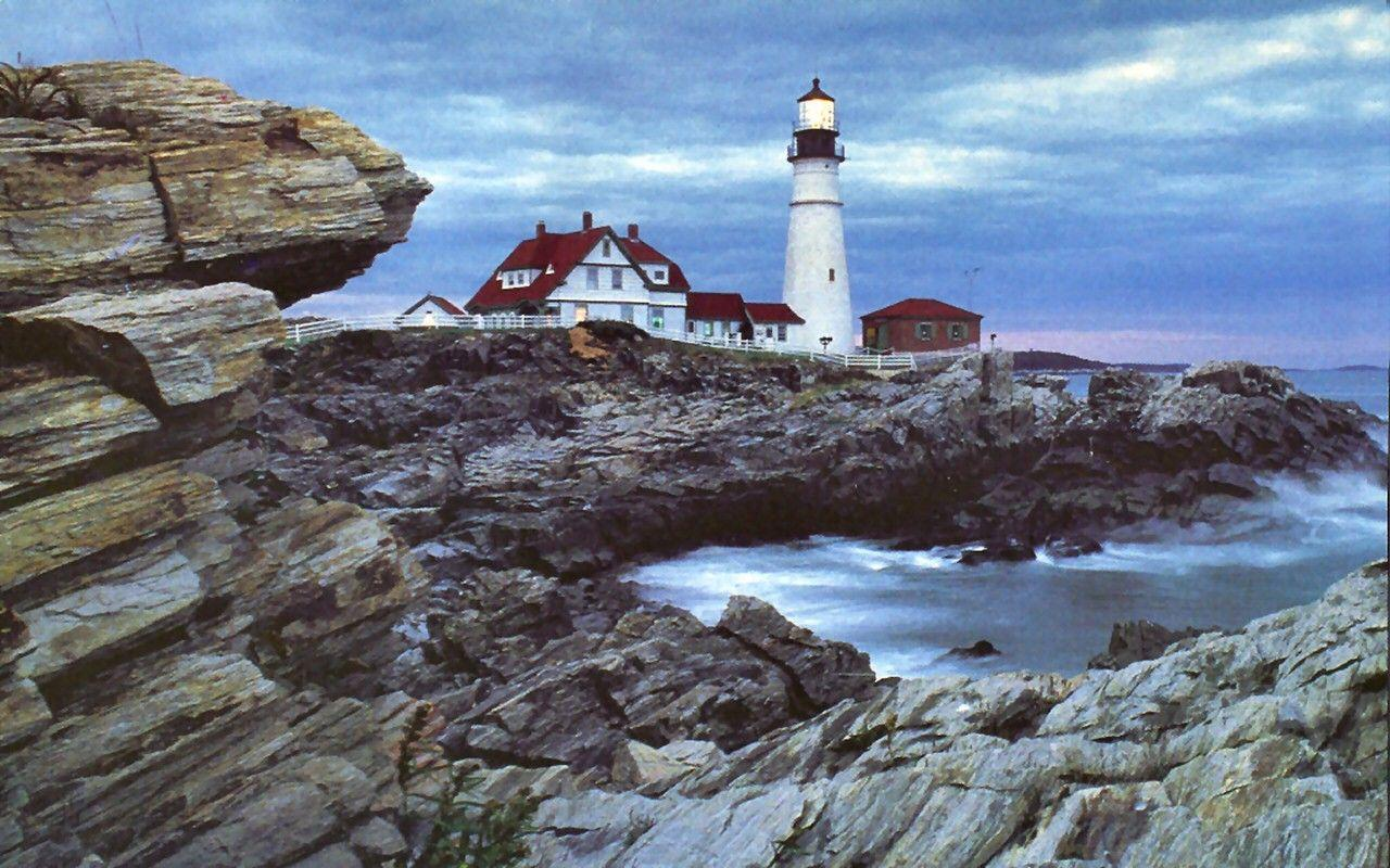 Lighthouses: Portland Head Lighthouse Photography Lake Waterscape