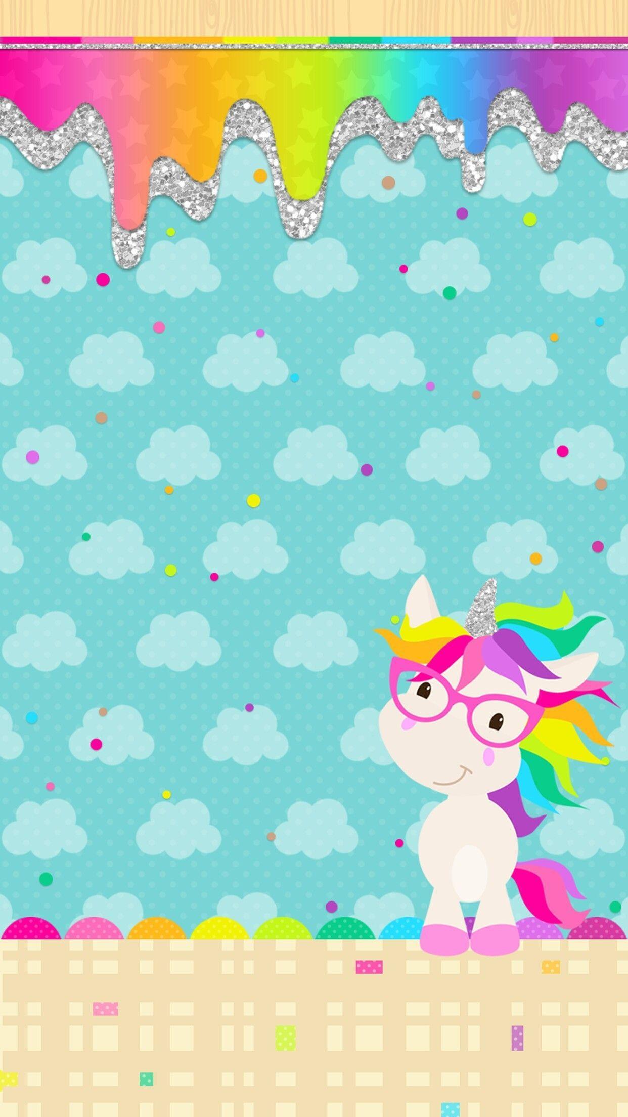 Cartoon unicorns wallpapers wallpaper cave - Kawaii wallpaper hd ...