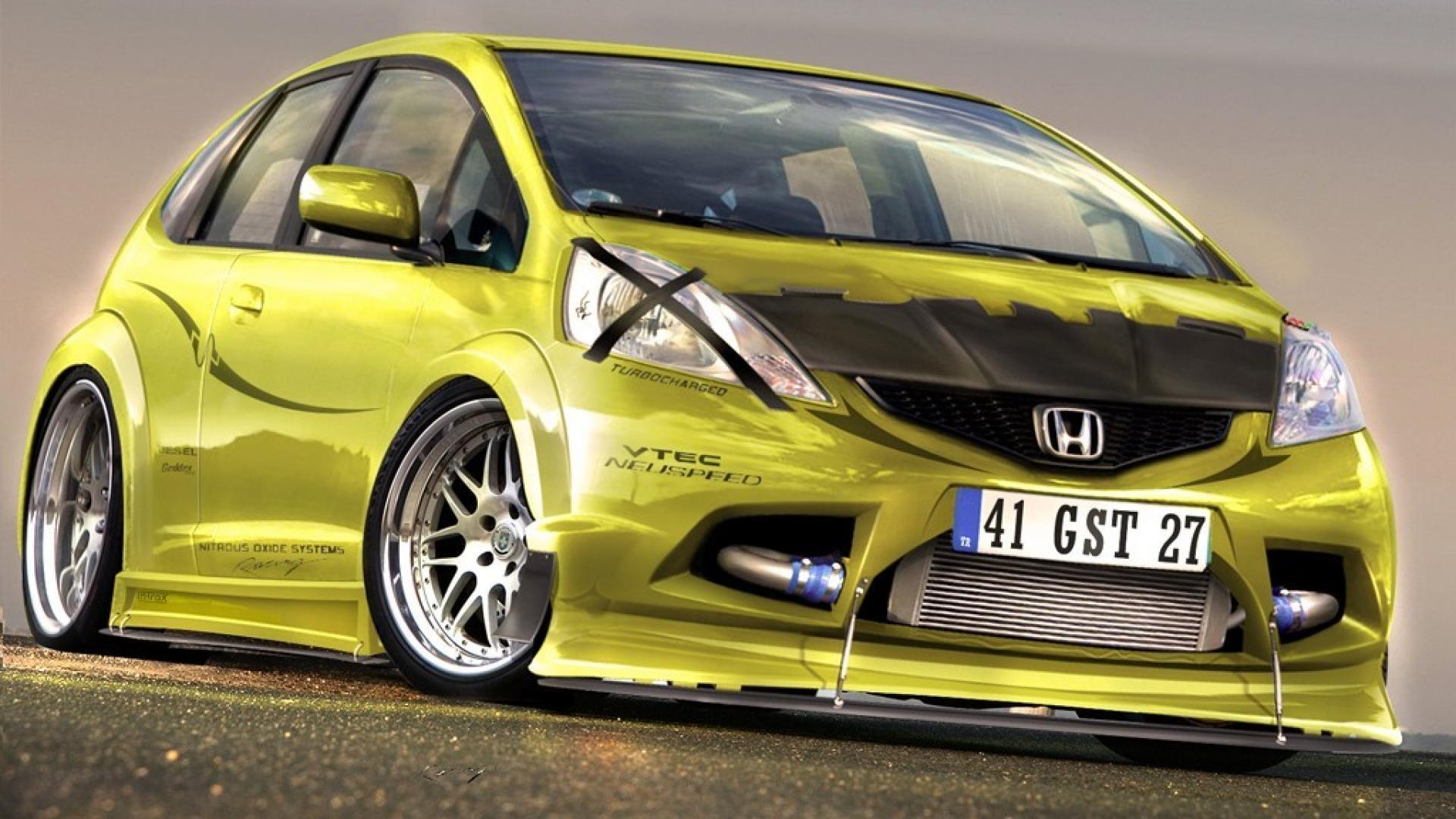 Cars tuning 3d honda jazz wallpapers