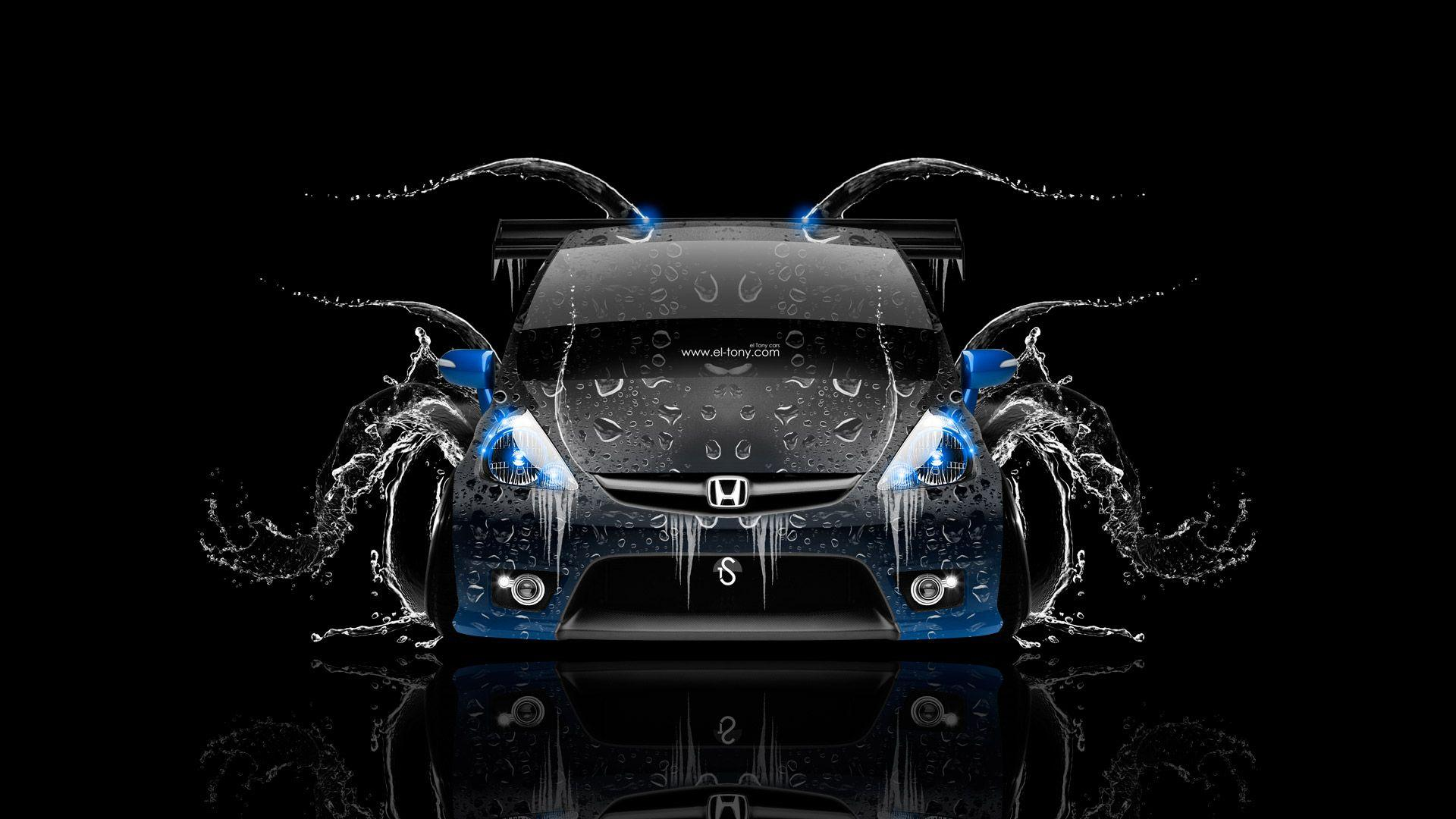 Honda Fit Tuning JDM Front Water Car 2014