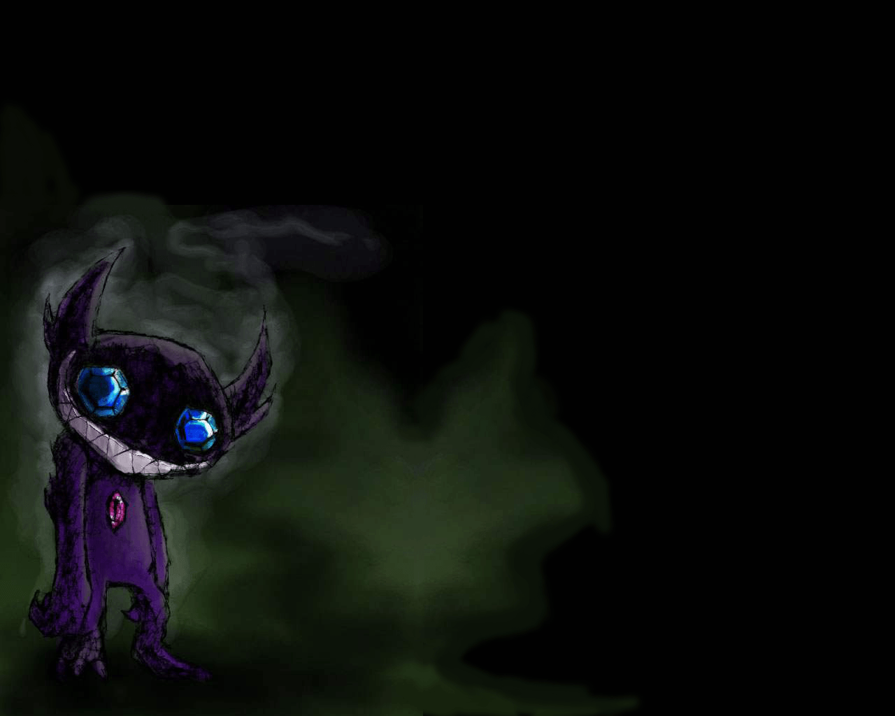 I made a wallpaper version of a awesome Sableye picture : pokemon