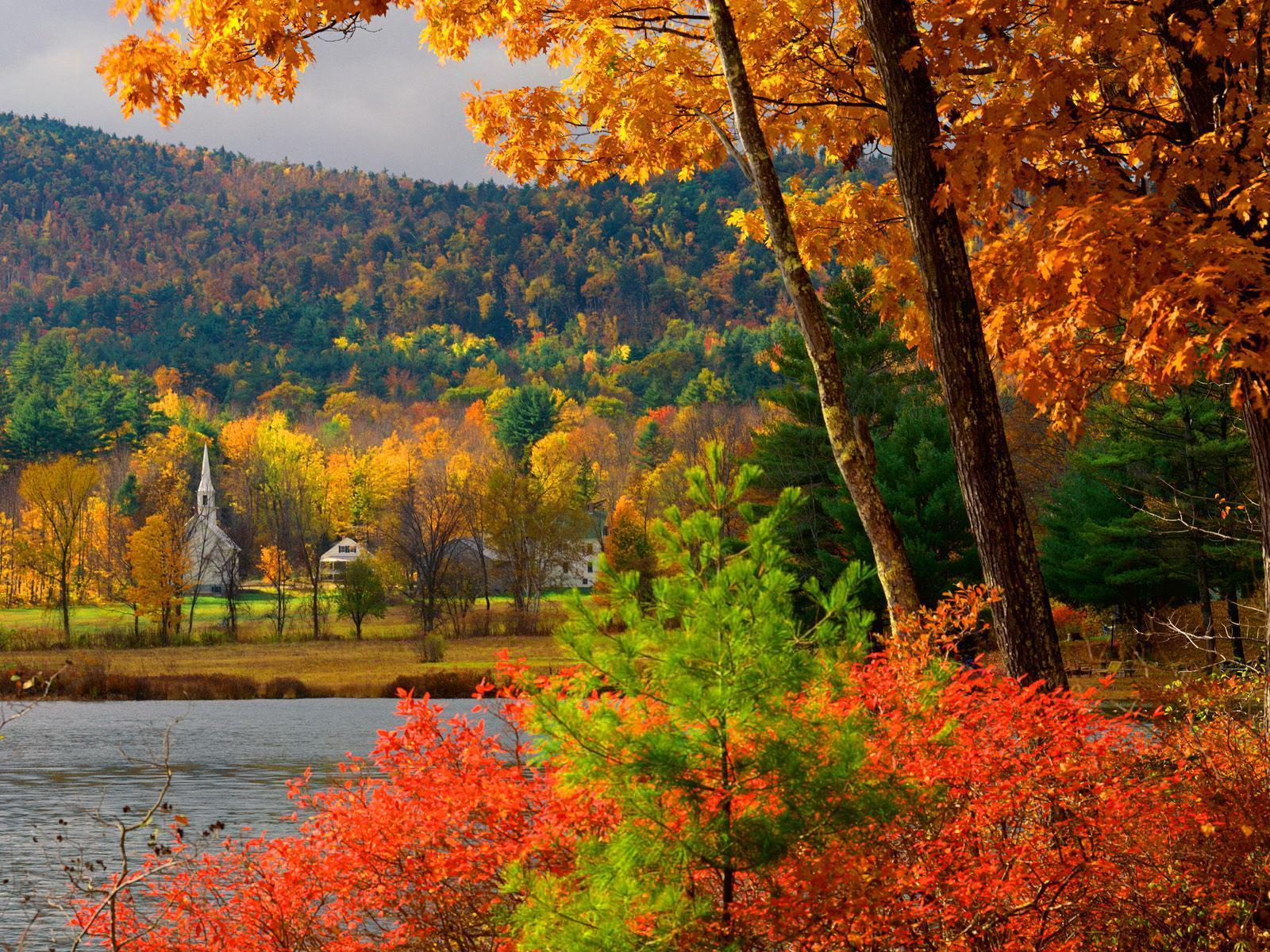 Autumn in New Hampshire HD desktop wallpapers : Widescreen : High