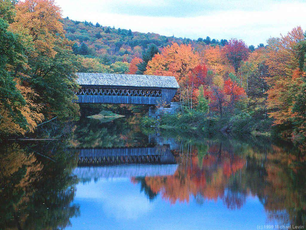 New England Covered Bridges and fall foliage.