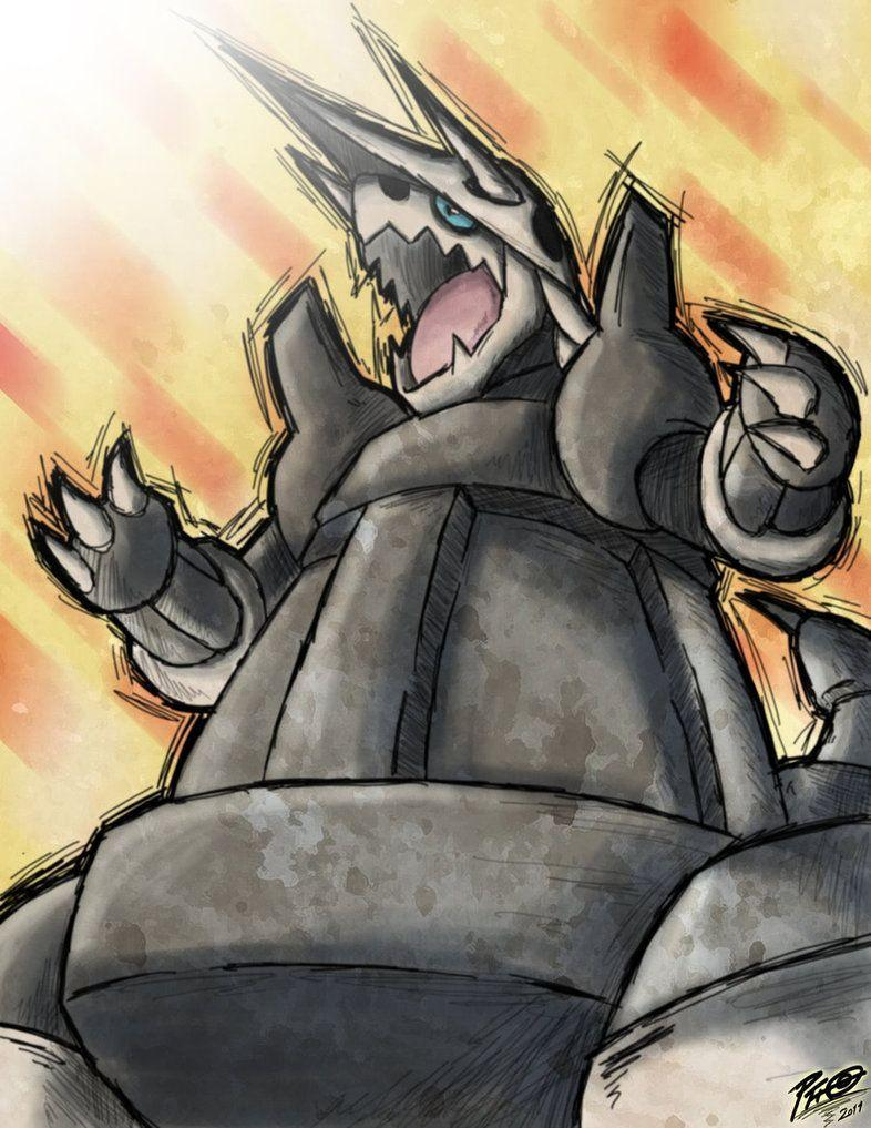 7 Aggron the iron armor pokemon. Aggron digs tunnels by using its